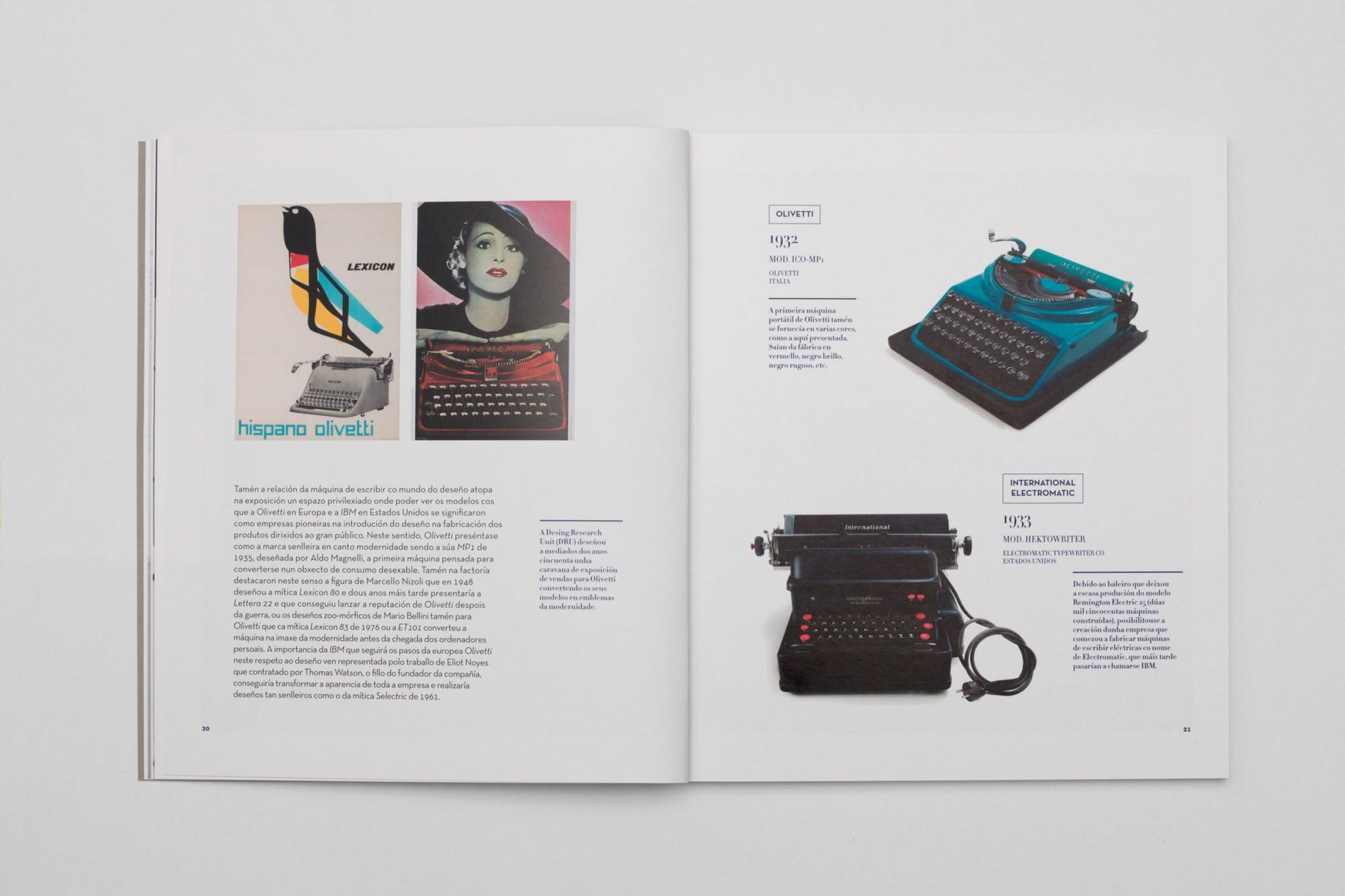 A máquina de escribir. Colección Sirvent